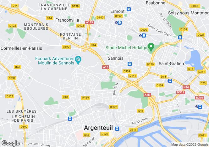 Map for sannois, Val d'Oise, France