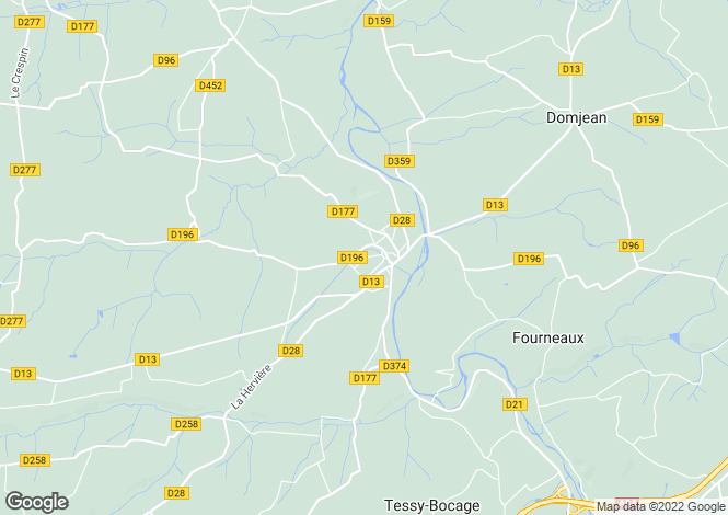 Map for Normandy, Manche, Tessy-sur-Vire