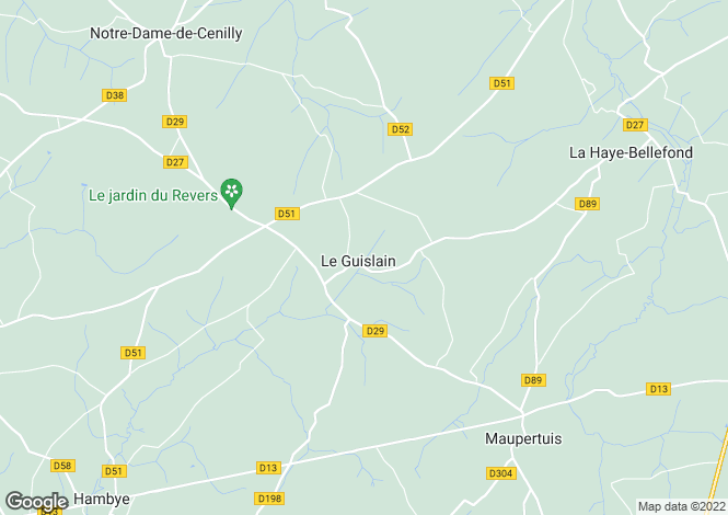 Map for Hambye, Manche, Normandy