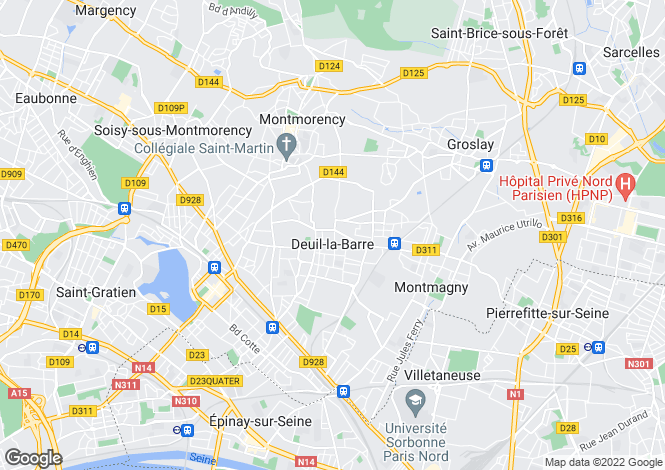 Map for DEUIL LA BARRE, DEUIL LA BARRE ,France