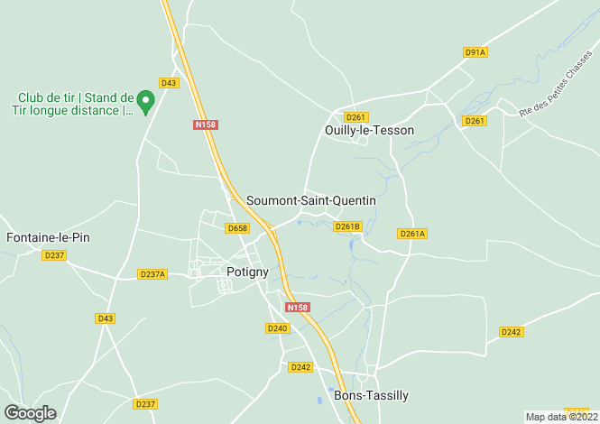 Map for Normandy, Calvados, Soumont-St-Quentin