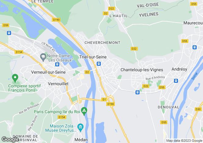 Map for triel-sur-seine, Yvelines, France