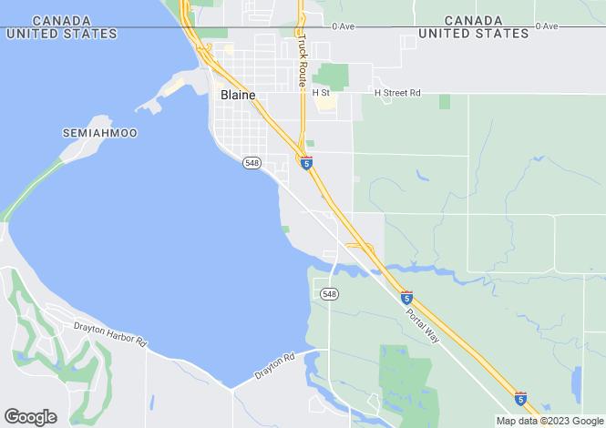 Map for Washington, Whatcom County, Blaine