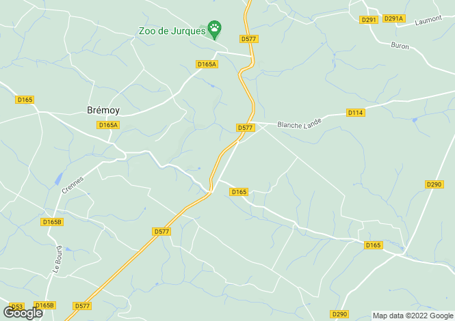 Map for Normandy, Calvados, Le Mesnil Auzouf