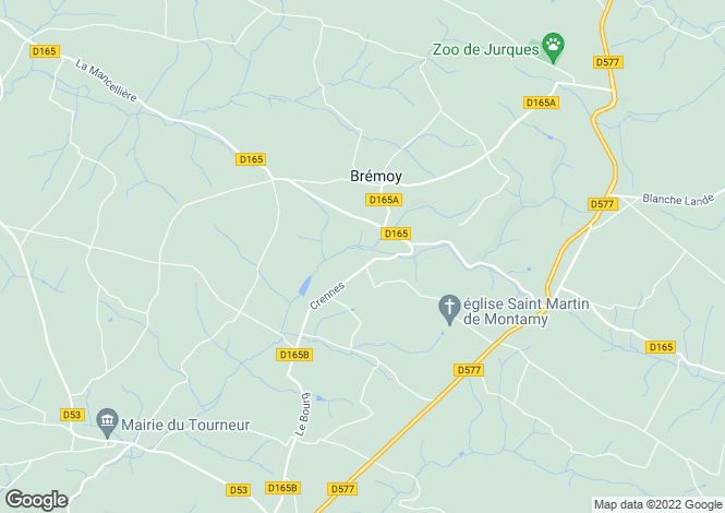 Map for Normandy, Calvados, Bremoy