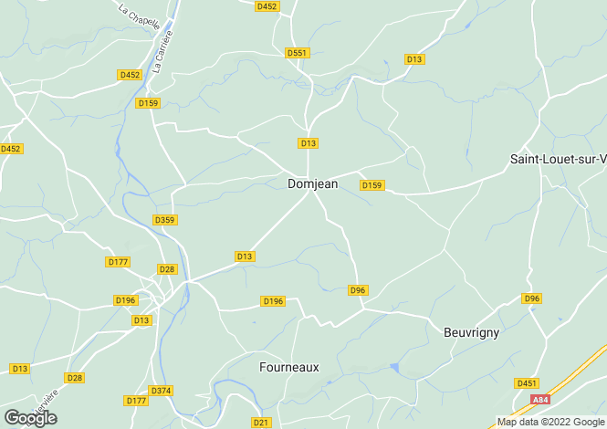 Map for Normandy, Manche, Domjean