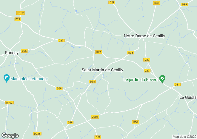 Map for St-Martin-de-Cenilly, Manche, Normandy