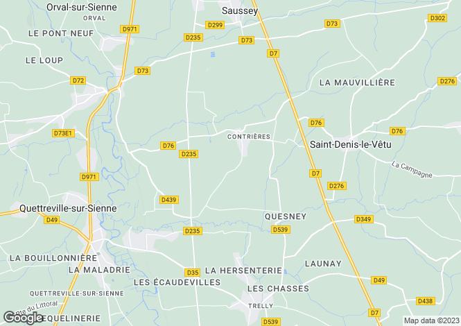 Map for Contrières, Manche, Normandy