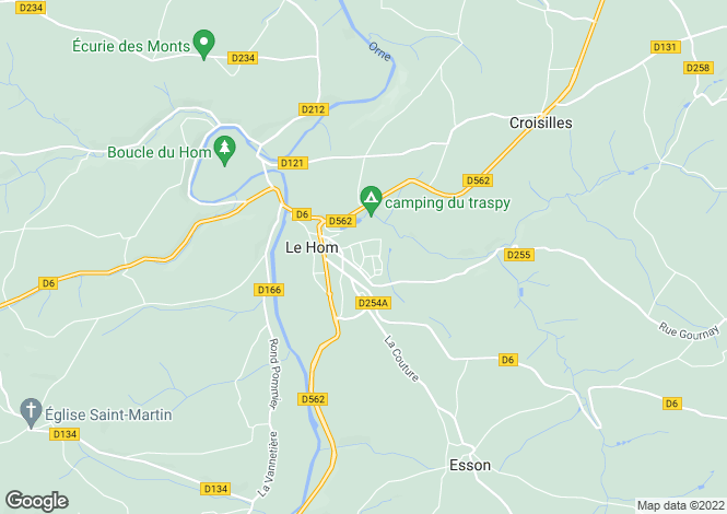 Map for Thury-Harcourt, Calvados, Normandy