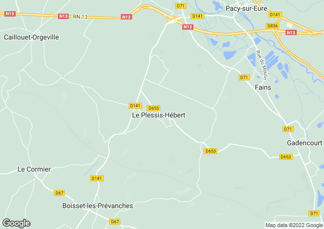 Map for le-plessis-hebert, Eure, France