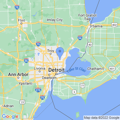 Map of truck driving jobs in Warren, Michigan