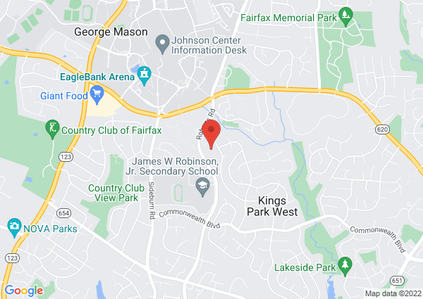 Map of 4850 Gainsborough Drive, Fairfax, VA, United States