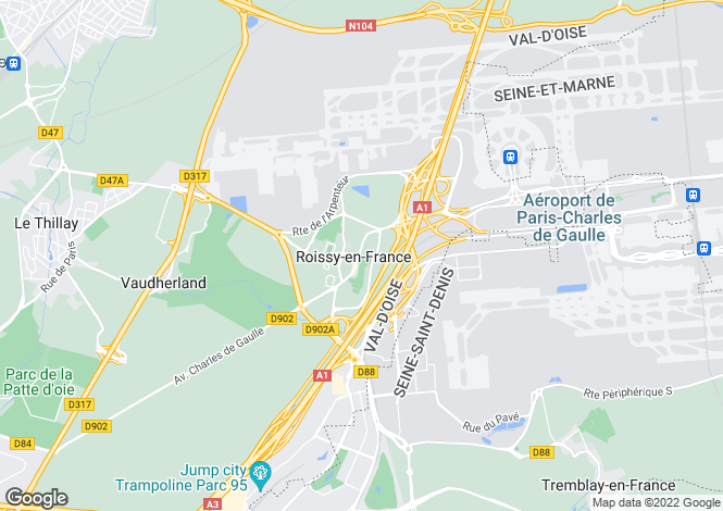 Map for roissy-en-france, Val d'Oise, France