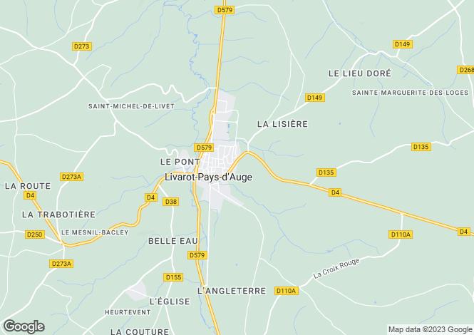 Map for Normandy, Calvados, Livarot