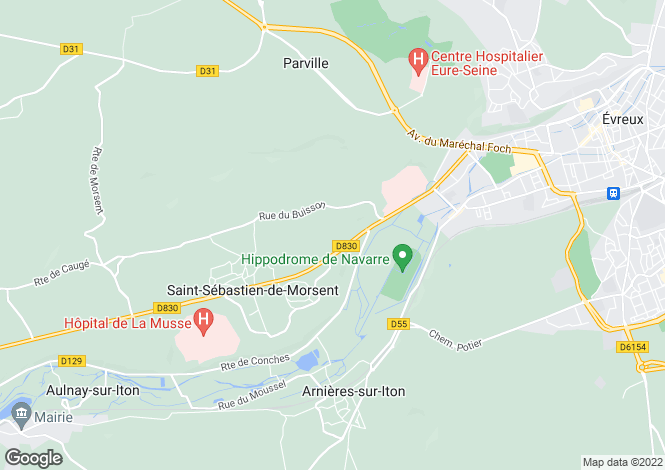 Map for Normandy, Eure, St-Sébastien-de-Morsent