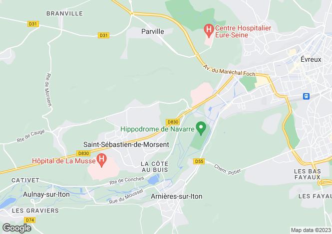 Map for st-sebastien-de-morsent, Eure, France