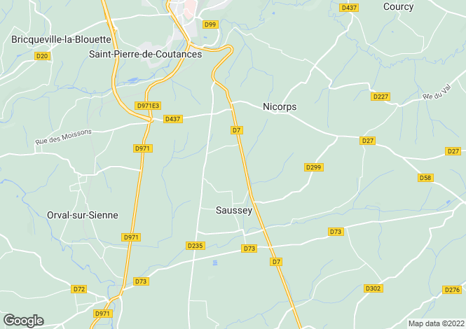 Map for Normandy, Manche, Saussey
