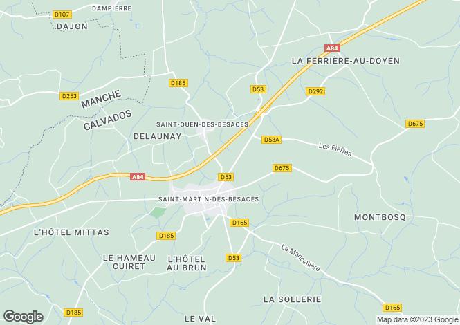 Map for st-martin-des-besaces, Calvados, France