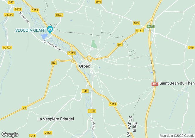 Map for la-vespiere, Calvados, France