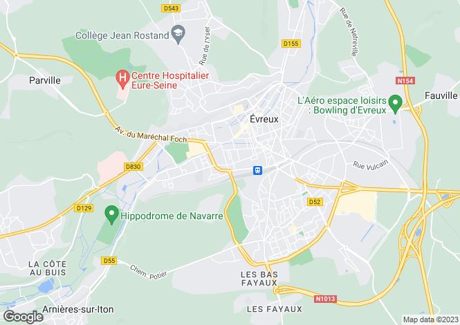 Map for EVREUX, Haute-Normandie