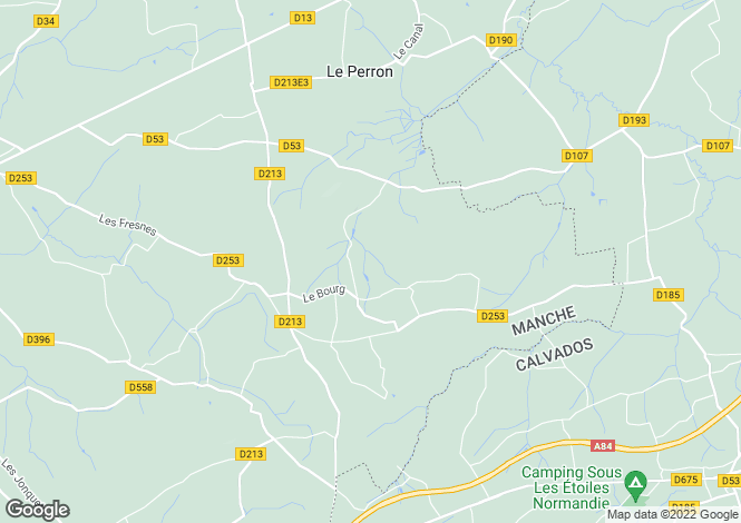 Map for Normandy, Manche, Placy-Montaigu