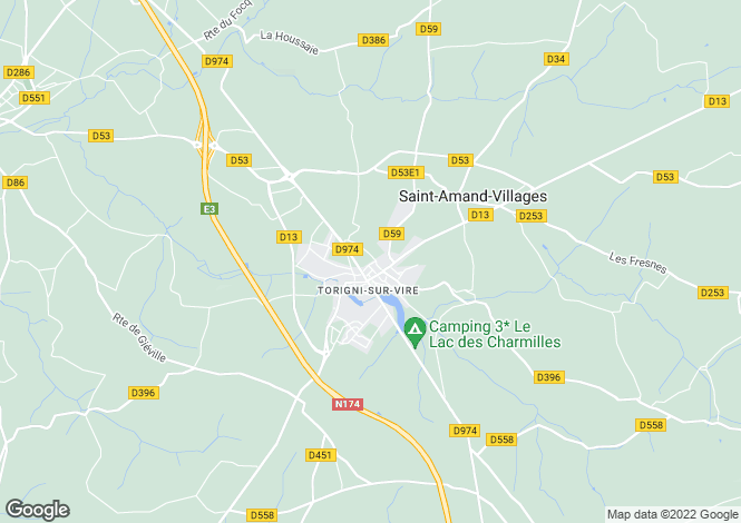Map for Normandy, Manche, Torigni-sur-Vire