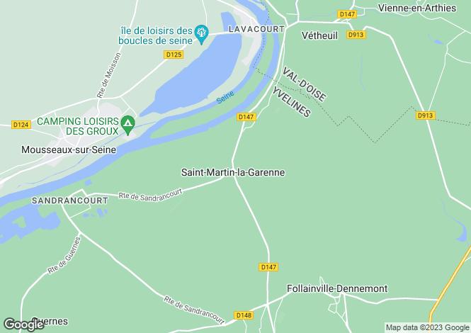 Map for Paris-Isle of France, Yvelines, St-Martin-la-Garenne