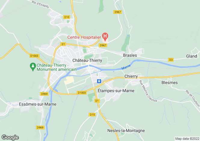 Map for CHÂTEAU-THIERRY