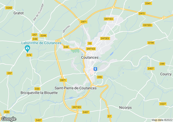 Map for COUTANCES, 50230, France