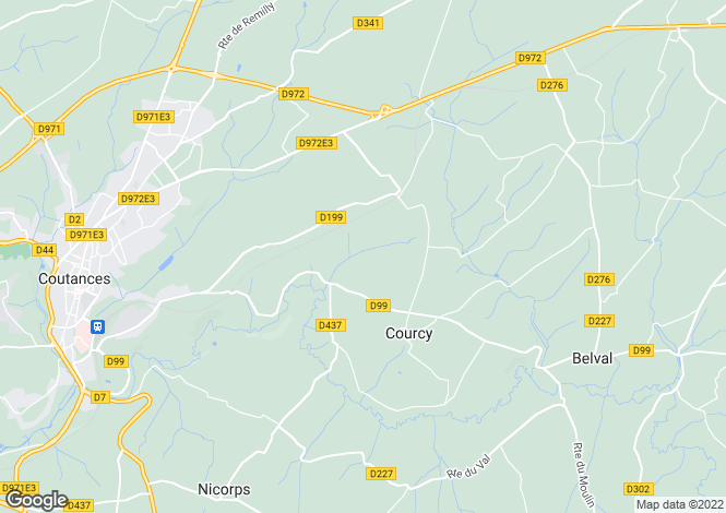 Map for courcy, Manche, France