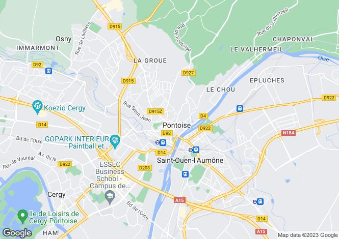 Map for pontoise, Val d'Oise, France