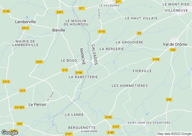 Map for la-lande-sur-drome, Calvados, France