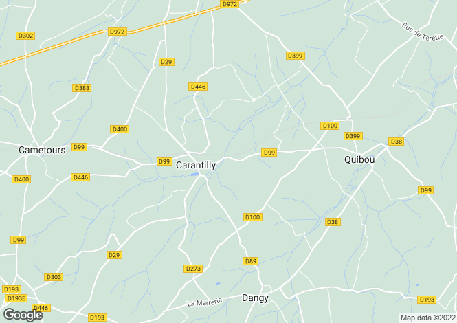 Map for Carantilly, Manche, Normandy