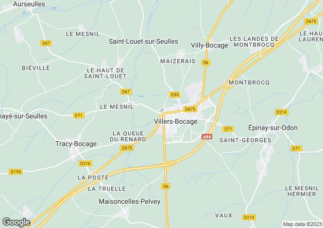 Map for Villers-Bocage, Calvados, Normandy