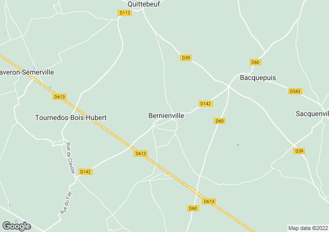 Map for bernienville, Eure, France