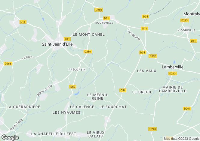 Map for precorbin, Manche, France
