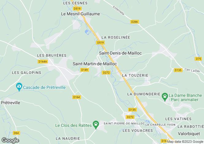 Map for St-Martin-de-Mailloc, Calvados, Normandy