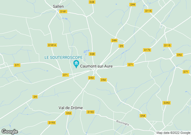 Map for caumont-l-evente, Calvados, France