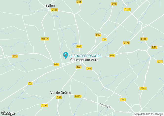Map for Normandy, Calvados, Caumont-l`Éventé