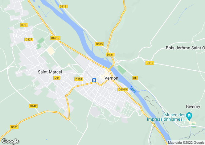 Map for vernon, Eure, France