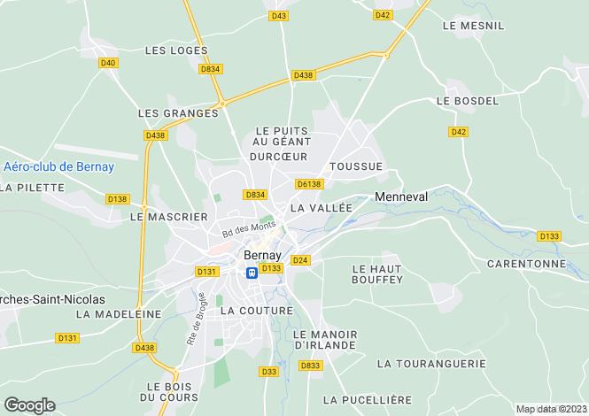 Map for Normandy Manor, Bernay, Calvados, Normandy