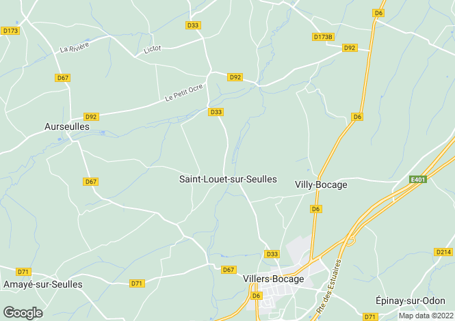 Map for st-louet-sur-seulles, Calvados, France