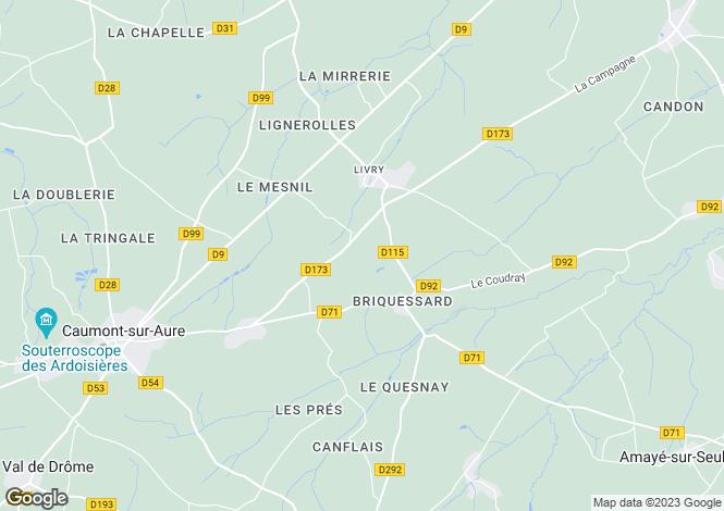 Map for livry, Calvados, France