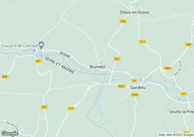 Map for brumetz, Aisne, France