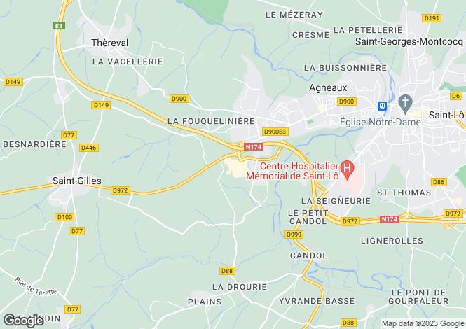 Map for Normandy, Manche, Agneaux