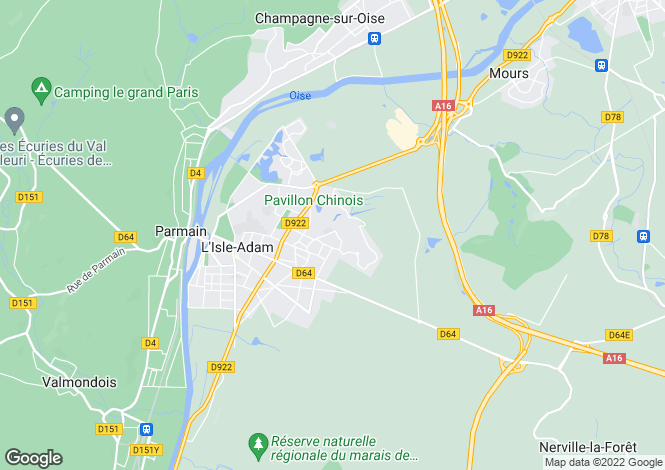 Map for l-isle-adam, Val d'Oise, France