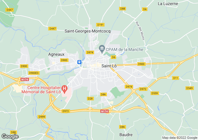 Map for ST LO, 50420, France