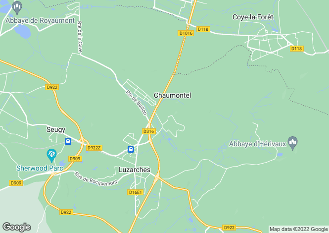 Map for chaumontel, Val d'Oise, France
