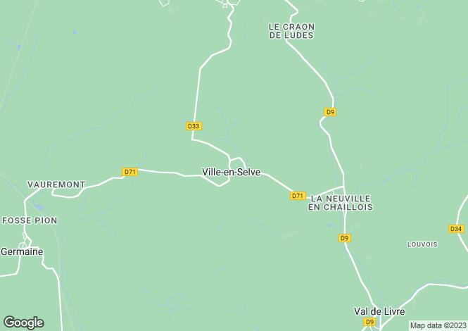 Map for ville-en-selve, Marne, France