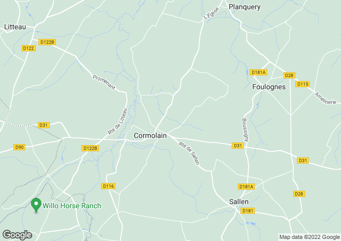Map for cormolain, Calvados, France